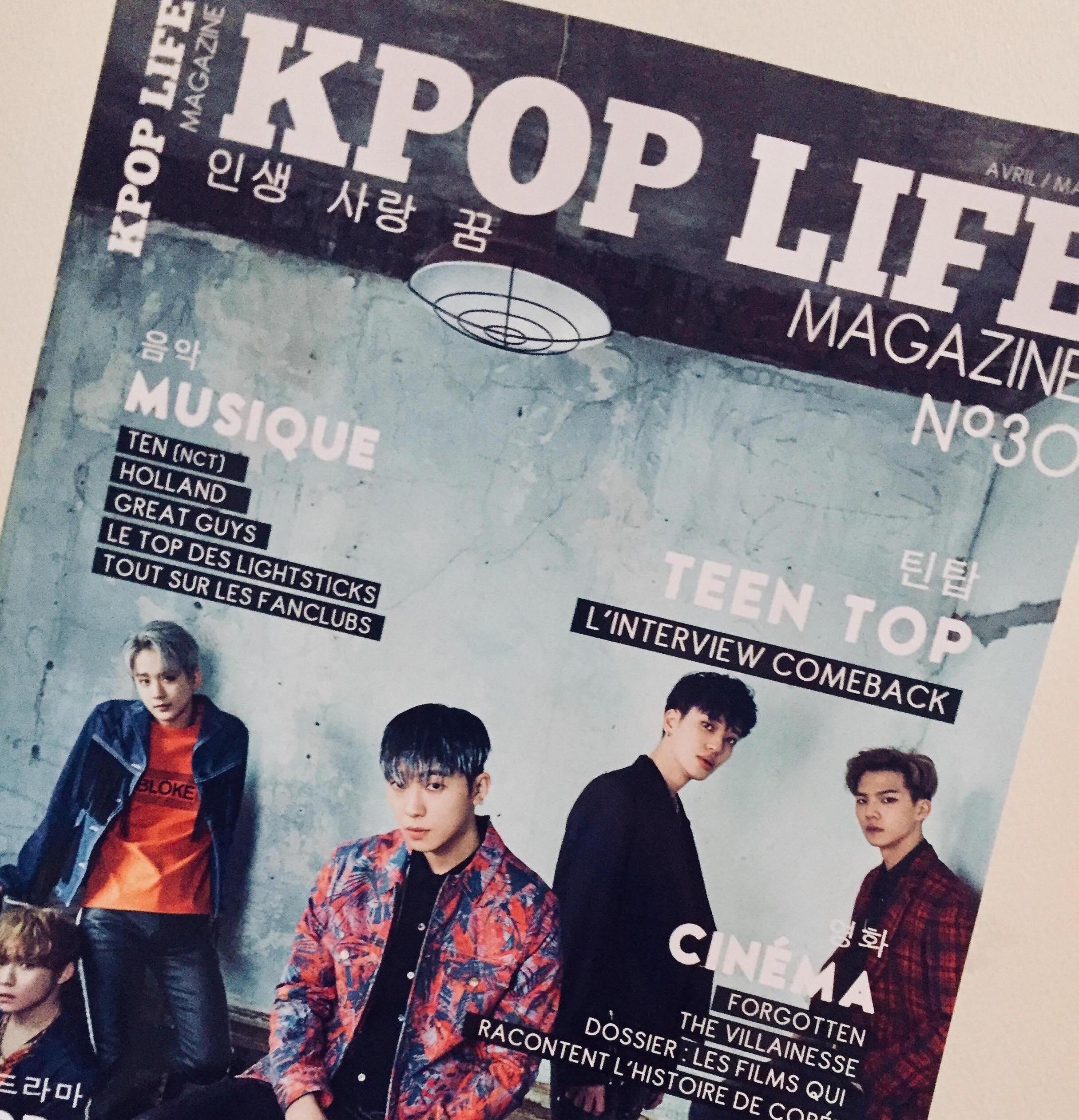 revue de presse - article kpop life magazine